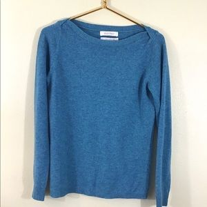 Ellen Tracy Cashmere Sweater Turquoise Size Small